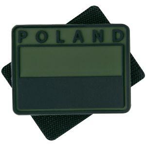 Emblema de Bandeira com Impressão Poland Helikon Polish Subdued Conjunto de 2 - Verde Azeitona