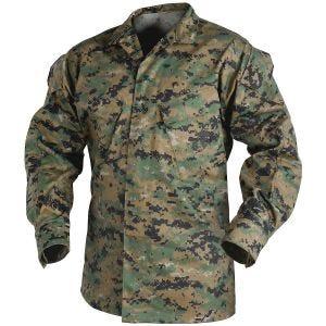 Camisa Helikon USMC Sarja Polialgodão - Digital Woodland