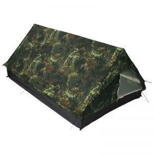 Tenda para 2 Pessoas Minipack MFH com Rede Mosquiteira - Flecktarn